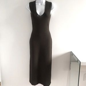 Dolce & Gabanna Y2K Chocolate Fitted Midi Dress